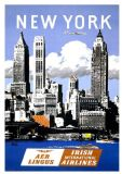 New York Vintage Travel Print/Poster. Sizes: A4/A3/A2/A1 (002693)